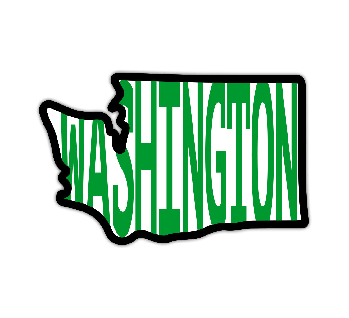 Washington in WA Vinyl Sticker