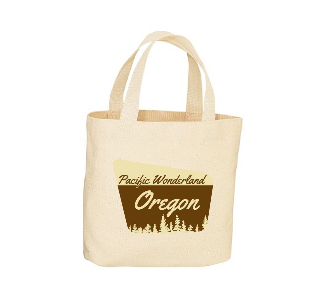 Pacific Wonderland OR Sign Canvas Tote Bag
