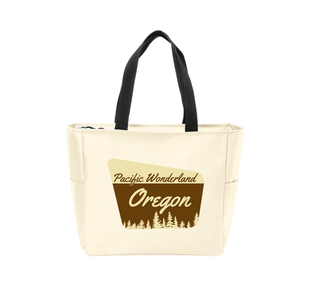 Pacific Wonderland OR Sign Waterproof Tote Bag