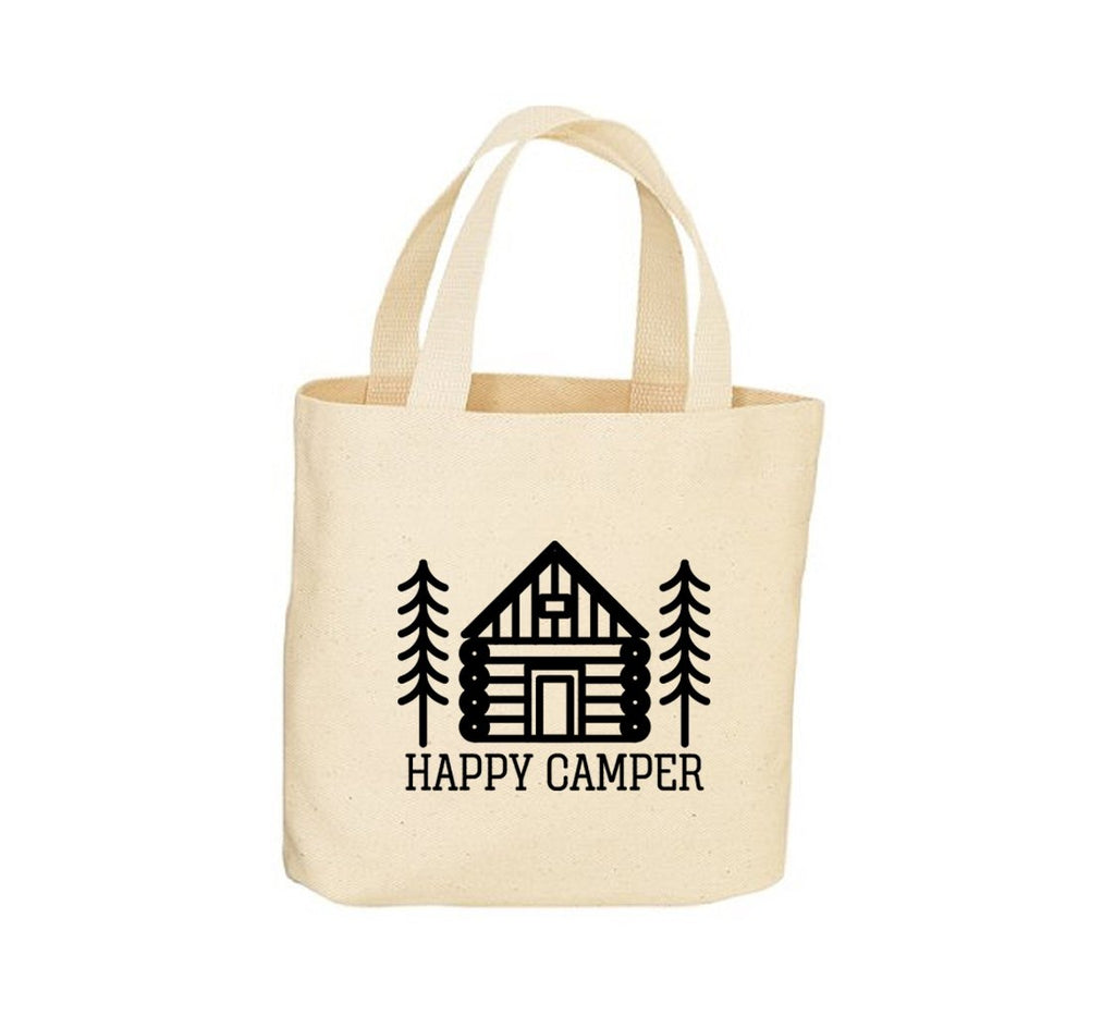 Happy Camper Canvas Tote Bag