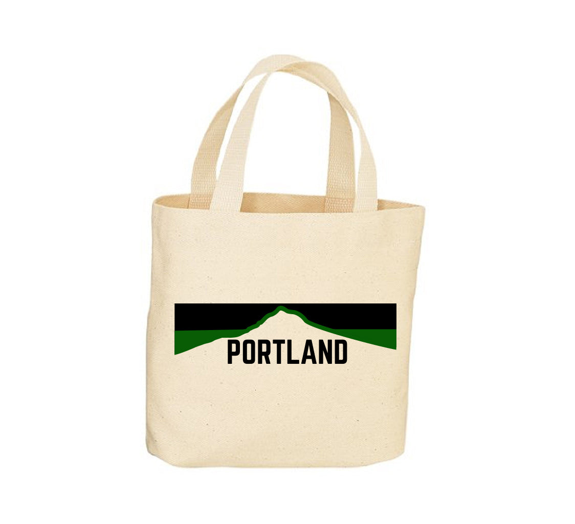 Portland Horizon Green Canvas Tote Bag