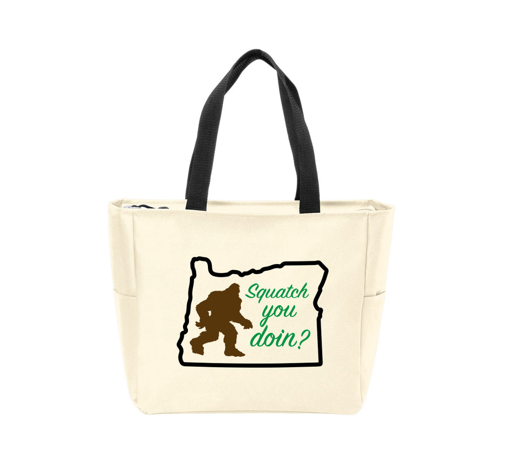Squatch You Doin in OR Waterproof Tote Bag