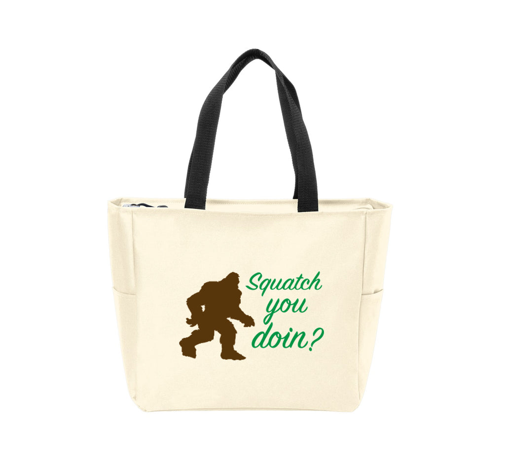 Squatch You Doin? Waterproof Tote Bag