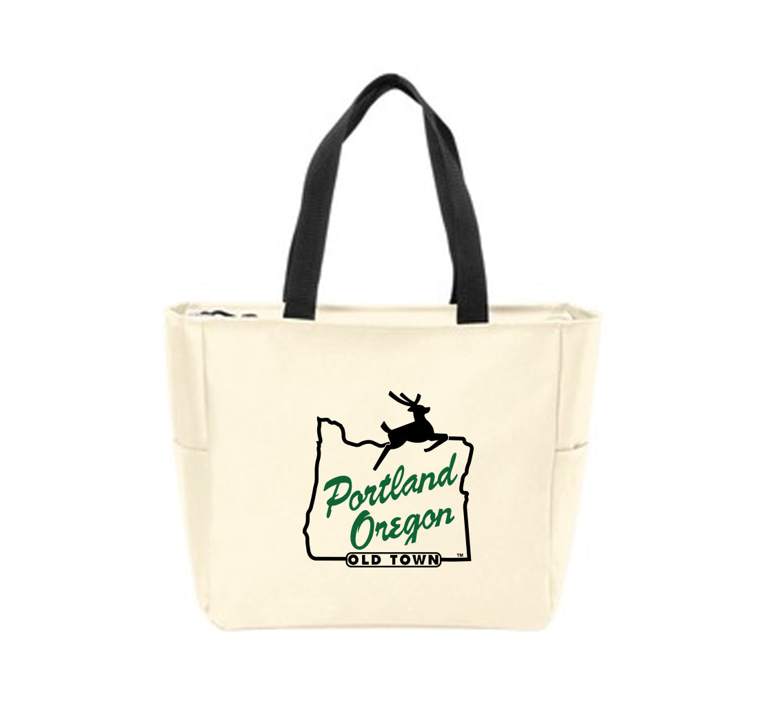 Portland Stag Sign Waterproof Tote Bag