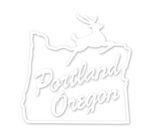 Portland Stag Sign Transfer Sticker