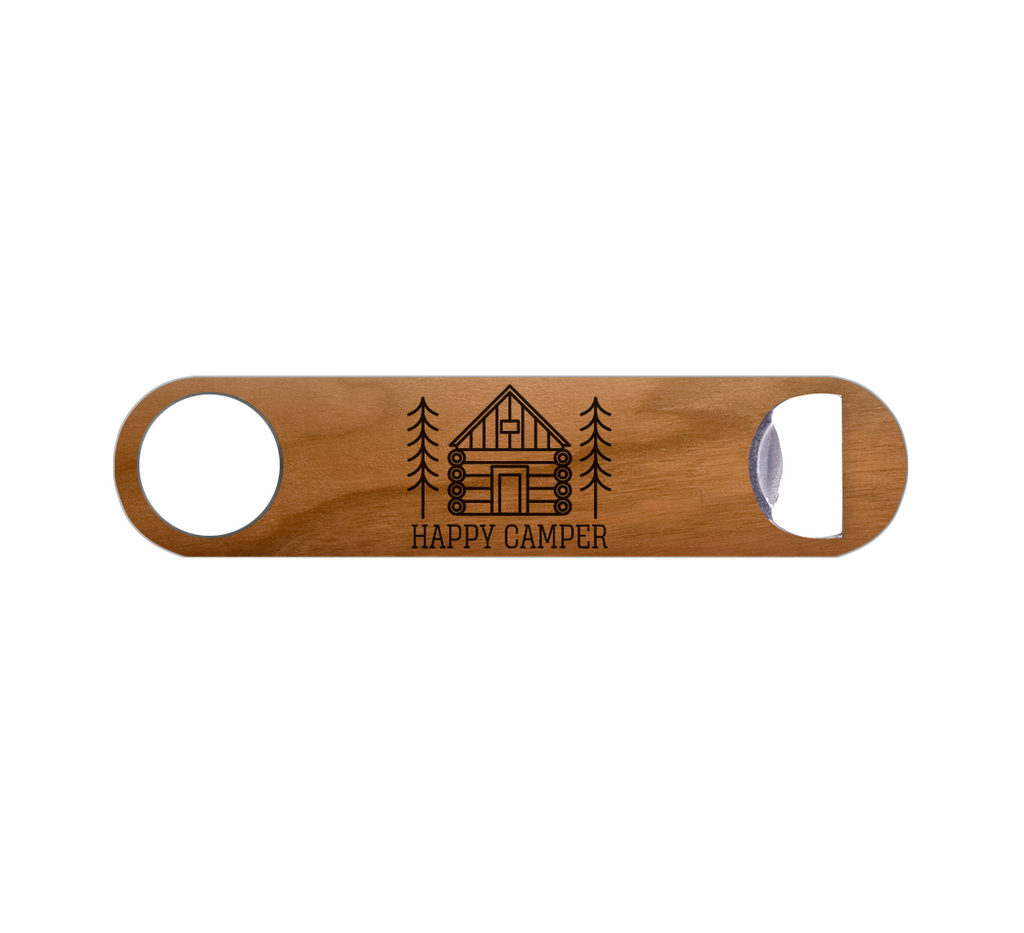 Happy Camper Wood Bottle Opener