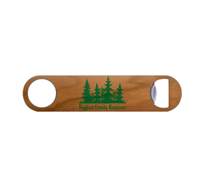 Bigfoot Family Reunion Wood Bottle Opener