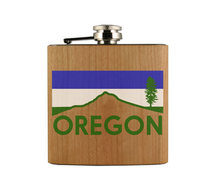 Mt. Hood Cascadia Wood Wrapped Flask