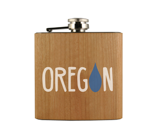OR Raindrop Wood Wrapped Flask