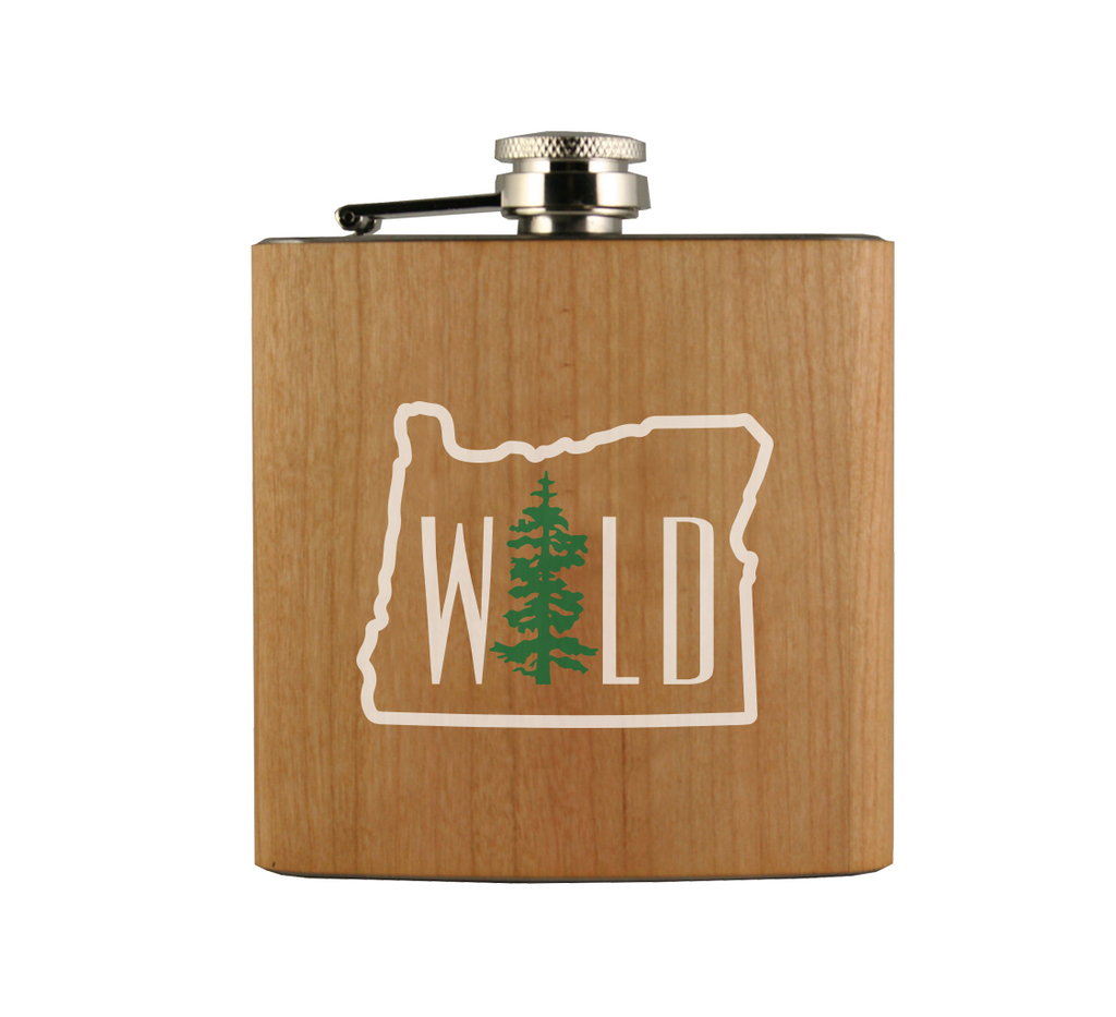 Wild OR Wood Wrapped Flask