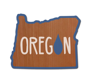 OR Raindrop Real Wood Sticker