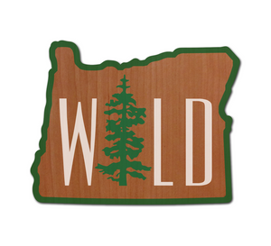Wild OR Real Wood Sticker