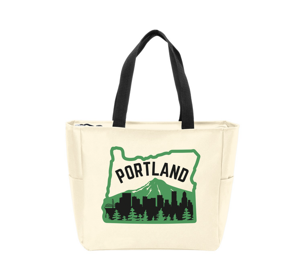 Portland Skyline Waterproof Tote Bag