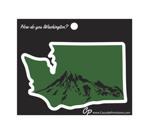 Mt. Rainier in Washington Sticker