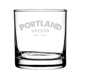Portland OR Whiskey Glass