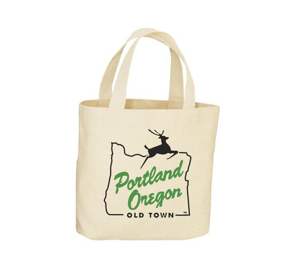 Portland Stag Sign Canvas Tote Bag