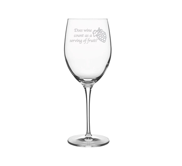 Wine is Fruit Engraved Wine Glass