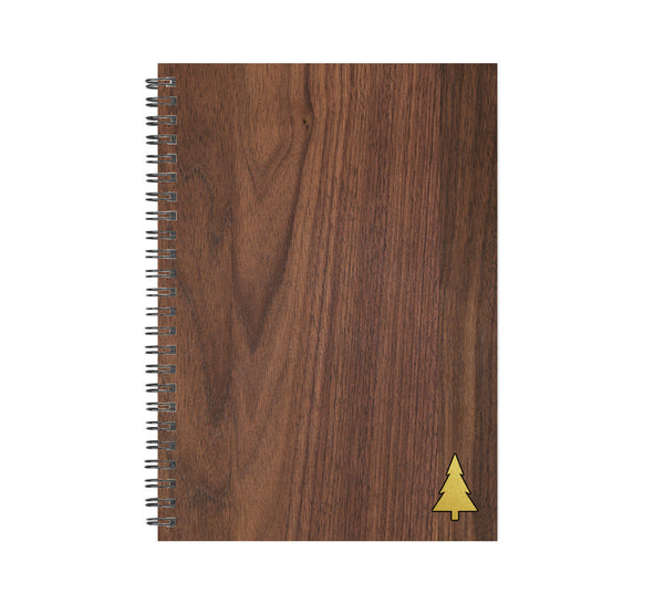 Tree Icon Wood and Metal Journal