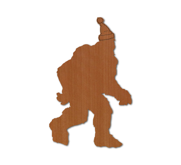 Bigfoot Santa Real Wood Magnet