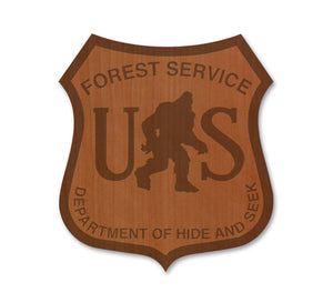 Bigfoot Forest Service Real Wood Magnet