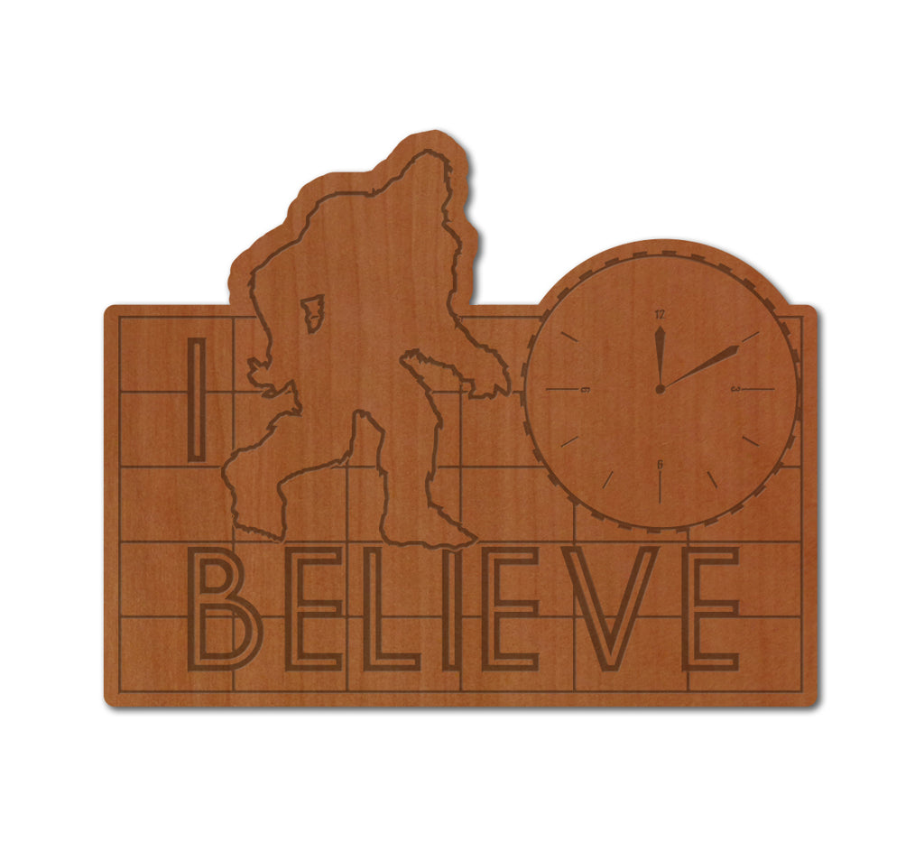 I Believe in Pike Place Real Wood Sticker