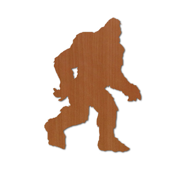 Bigfoot Profile Real Wood Sticker