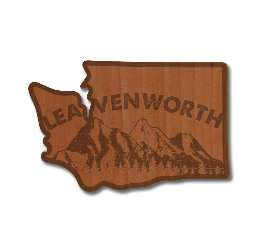 Leavenworth in WA Real Wood Sticker