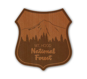 Mt. Hood National Forest Sign Real Wood Sticker