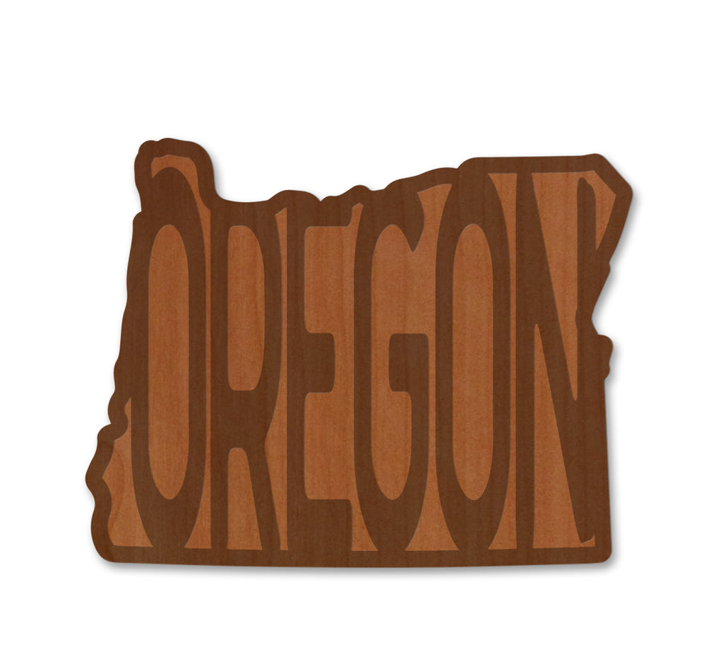 OREGON in OR Real Wood Sticker