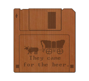 OR Trail Floppy Disc Real Wood Magnet