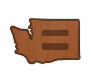 WA Pride Real Wood Sticker