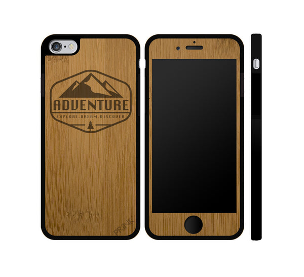 Explore Dream Discover Wood iPhone or Galaxy Case