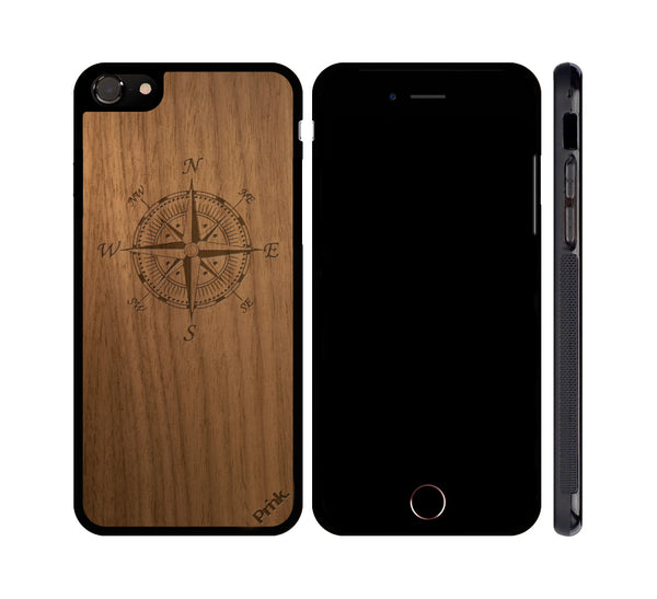 Compass Wood iPhone or Galaxy Case