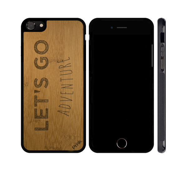Let's Go Adventure Wood iPhone or Galaxy Case