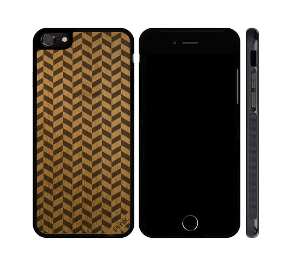 Herringbone Pattern Wood iPhone or Galaxy Case