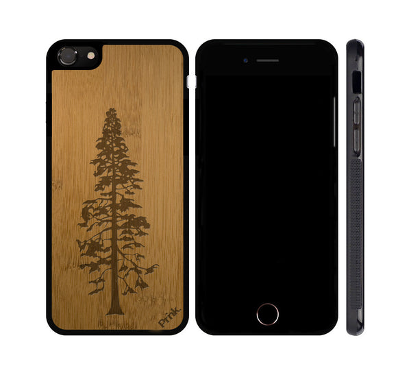 Pine Tree Wood iPhone or Galaxy Case
