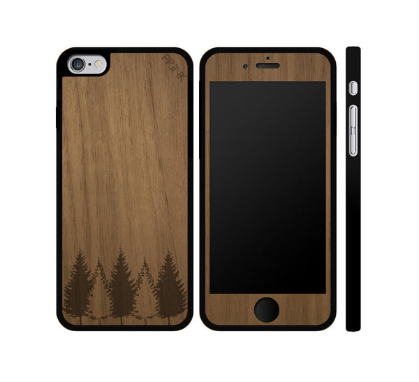 """Tree Line"" - walnut wood iPhone case"