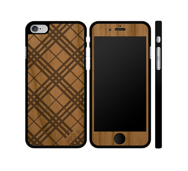 """PRiNKberry Pattern"" - cherry wood iPhone case"