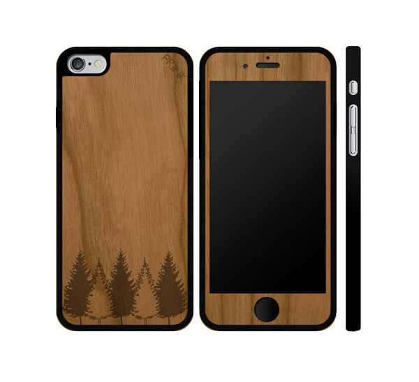 """Tree Line"" - cherry wood iPhone case"