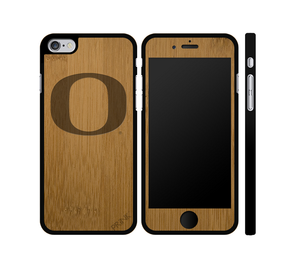 """University of Oregon 'O'"" - bamboo iPhone case"