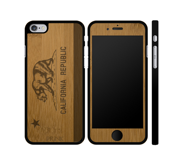 California State Flag Bear - bamboo iPhone case