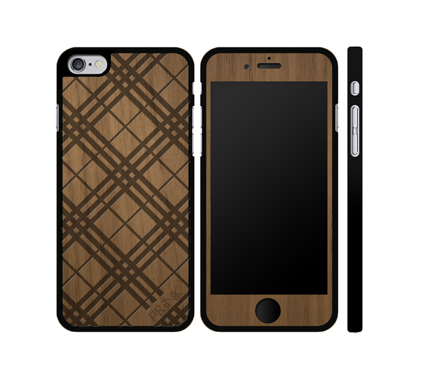 """PRiNKberry Pattern"" - walnut wood iPhone case"