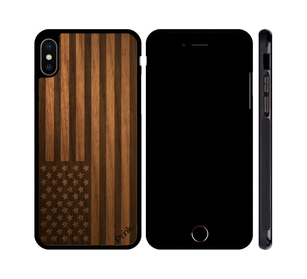 American Flag Wood iPhone or Galaxy Case