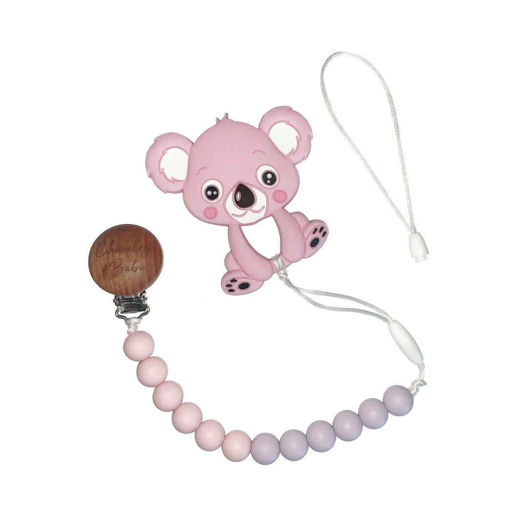 Pacifier Clip & Teether - Koala