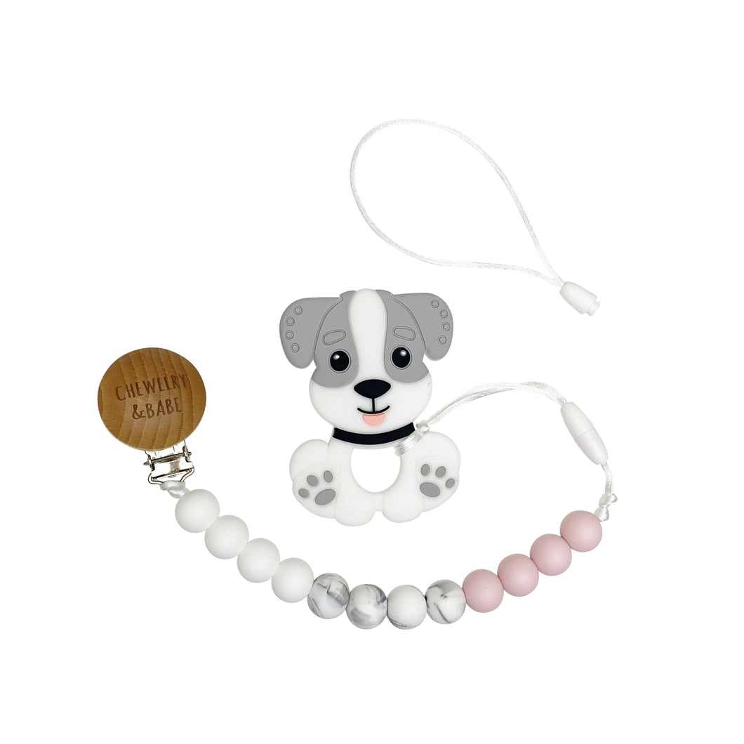 Pacifier Clip & Teether - Puppy
