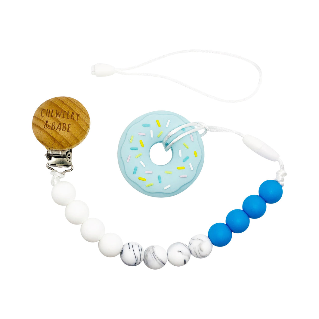 Pacifier Clip & Teether - Donut