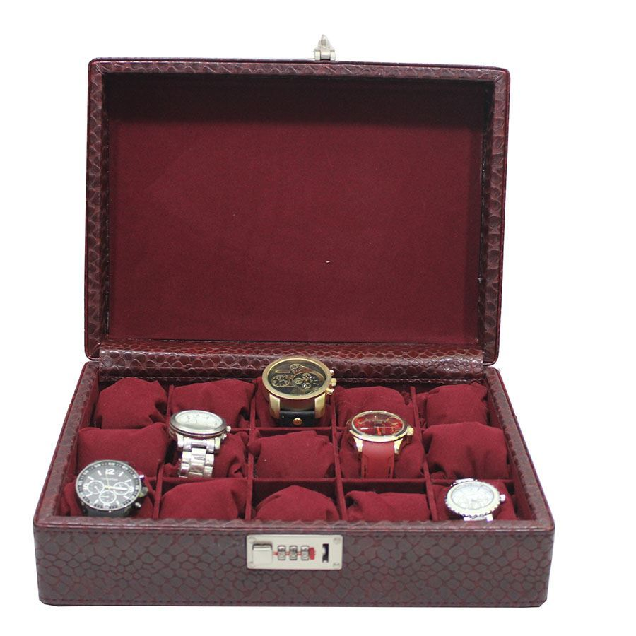 Dama Stile SKH13, Crocodile Leather 15 Watches Box