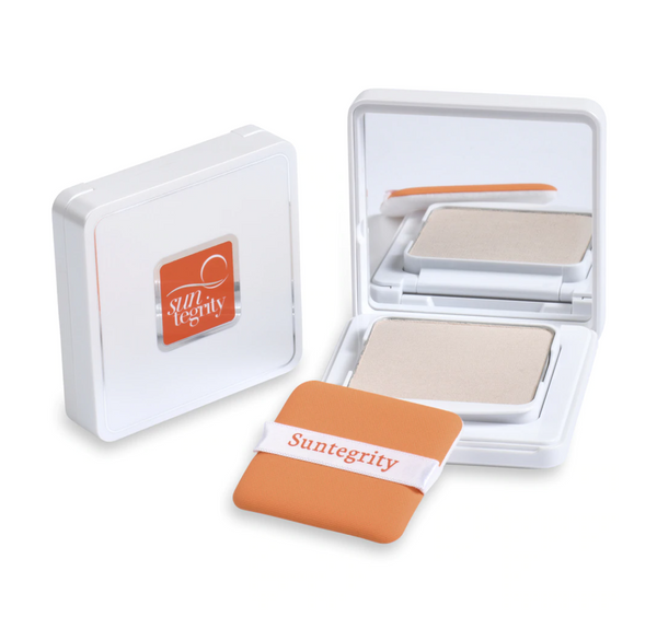Suntegrity Pressed Mineral Powder Compact – Translucent, Broad Spectrum SPF 50