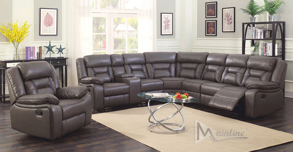 Cha-cha Modern Corner Sectional Recliner Plush