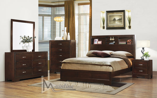 6 Piece Bed Set - Espresso